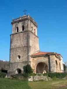 Fachada principal Iglesia de San Lorenzo, Llerana